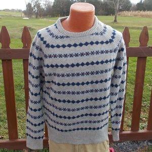 J. Crew Mens Lambswool Sweater Size Medium